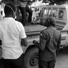 "A person killed by ""unknown gunmen"" is brought to the Yei Teaching Hospital, February 29, 2016."