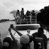 Juba goes Miami: Fun on Queen Juba, a double-decker boat with twin 320-horse-power engines.