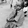 Children waiting to receive medication in Kajo Keji, May 2, 2014.