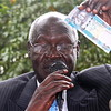 Elijah Malok, President of the Bank of South Sudan, speaking to reporters.
