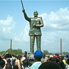 The statue of John Garang in Juba.