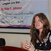 Hilde Johnson at her book launch in Juba.