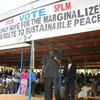 Mr Clement Wani Ko'nga addresses the crowd in Yei Square