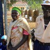Cecilia Wani and her husband.  Two long standing citizens of Juba proud to make their mark