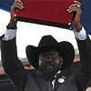Salva Kiir after taking oath as the first president of the Republic of South Sudan
