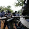 SPLA forces on parade in South Sudan