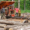 A sawmill belonging to one of the local companies contracted to harvest teak trees in Kegulu forest.