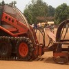 A 5 tonne remote driven combined tiller used for mine clearance