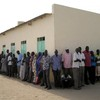 Long queue outside polling station in Unity State