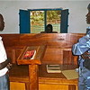 Ngor Chan (left) appearing before court for voting twice.