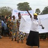 Yei women asserting their rights at the Int. Women's Day celebrations