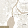 Map of Khartoum, Sudan.