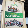 A billboard displaying products of SSBL at the company's production facility in Juba, August 1, 2015. (photo: The Niles | Waakhe Simon Wudu )