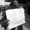 A woman protesting for peace in Yei, July 25, 2015. (photo: The Niles | A. L.)