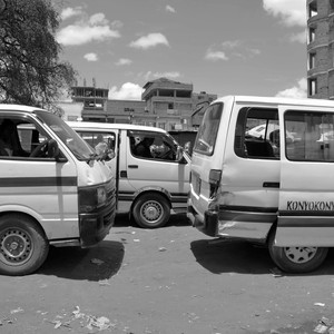 Minibuses in Juba, Cenetral Equatoria State, October 10, 2014. (photo: The Niles | Samir Bol)