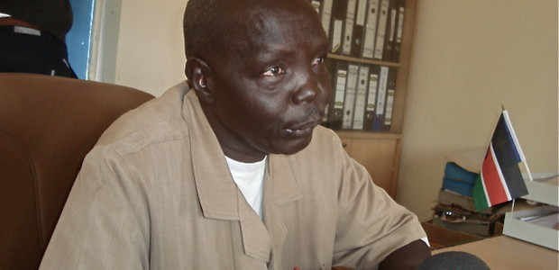 Northern Bahr El-Ghazal State Director for General Education, Jok Aleu Jok, in his office, January 7.