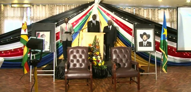 South Sudan's Embassy commemorated the country's 4th independence anniversary in Zimbabwe's capital. (photo: The Niles | Simon Bingo)