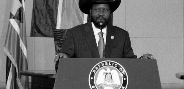 President Salva Kiir addressing diplomats at the Presidential Palace in Juba on July 20, 2011. (photo: The Niles | Waakhe Simon Wudu)