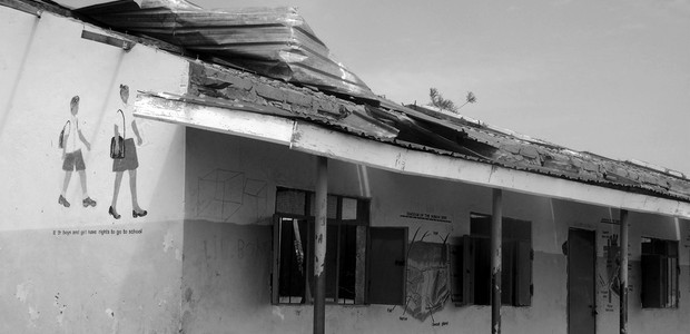 The unroofed Mayen Gomel Primary School building in Kuajok on May 28, 2016. (photo: The Niles | Malek Deng)