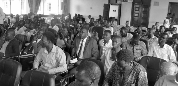 South Sudanese students and civil society groups attend a 'political process dialogue' at Uganda's Makerere University in Kampala, August 28, 2016. (photo: The Niles | Bonifacio Taban)