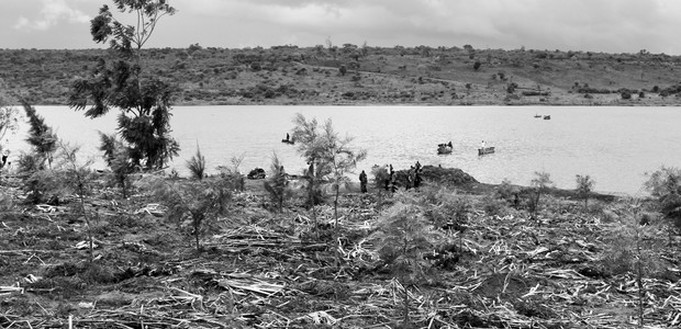 A project site of Lake Cyohoha ecosystem recovery programme on October 13, 2015. (photo: Green Fund Rwanda)