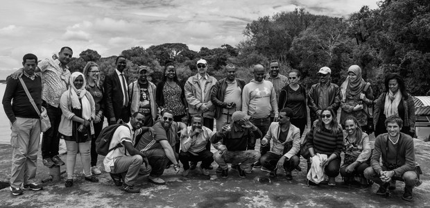The Niles contributors at the shores of Lake Tana, August 2018.  (photo: The Niles | Bullen Chol)