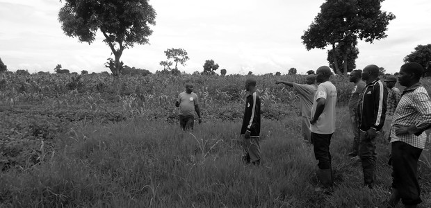 Members of an agricultural group visit the site of a recent abduction near Gisigari. (photo: The Niles | Tuver Wundi)