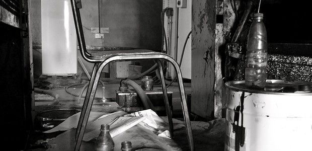 An empty chair amid a printing-press in Juba, July 17, 2012. (photo: The Niles | Dominik Lehnert)