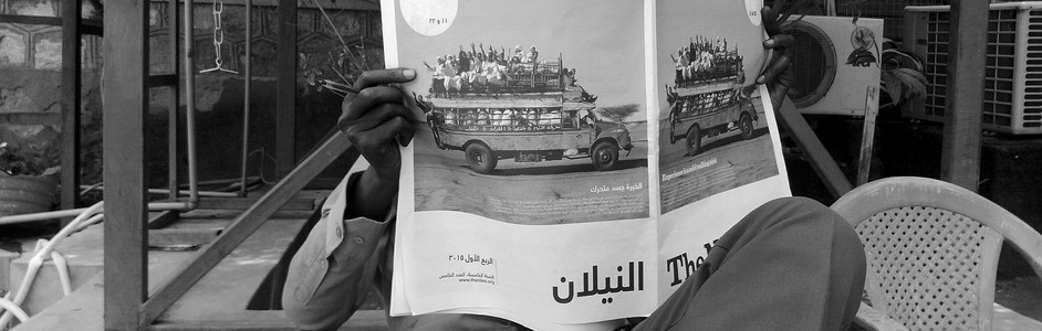 A man reads The Niles Print Edition 5 in Juba, June 1, 2015. (photo: The Niles | Waakhe Simon Wudu)